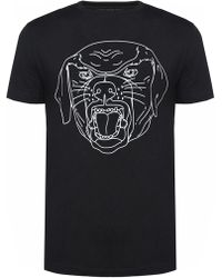 Givenchy Rottweiler Head-printed T-shirt - Black