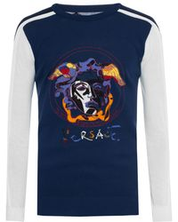 Versace - Logo-embroidered Sweater - Lyst