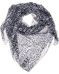 Saint Laurent - 'animal Print' Scarf - Lyst