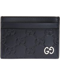 aab719fd380a Gucci Swing Leather Card Case in Black for Men - Lyst