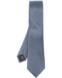 Lanvin - Geometric Pattern Silk Tie - Lyst
