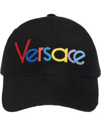 Versace - Black Rainbow Logo Embroidered Baseball Cap - Lyst