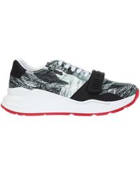 Burberry - Patterned Sneakers - Lyst