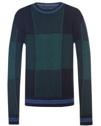 Diesel Black Gold - Checked Sweater - Lyst