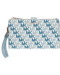da41ec23bc85 Michael Kors - Patterned Wallet With Detachable Strap - Lyst