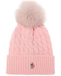 bf7a444502143 Moncler Grenoble - Wool Hat With Logo - Lyst