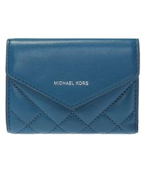 Michael Kors - Quilted Wallet With Logo - Lyst