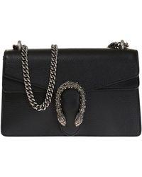 7893803ec05a Gucci Medium Dionysus Webbed Stripe Bag in Black - Lyst