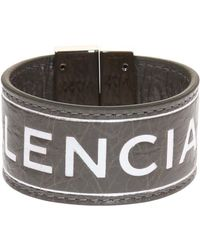 Balenciaga - Logo-embossed Bracelet - Lyst