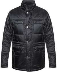 Michael Kors - Quilted Band Collar Jacket - Lyst