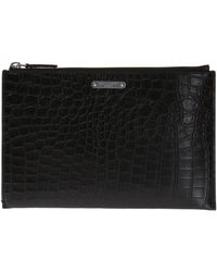 Saint Laurent - Leather Clutch - Lyst