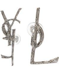 Saint Laurent - Logo Clip-on Earrings - Lyst