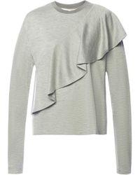 Diane von Furstenberg - Sweater With Ruffle - Lyst