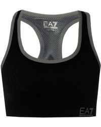 EA7 - Sports Bra With Logo - Lyst