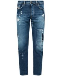 DIESEL - 'thommer-t' Distressed Jeans - Lyst