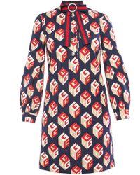 Gucci - 'gg Wallpaper' Dress - Lyst