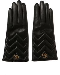 Gucci - Leather Gloves - Lyst