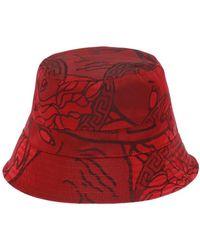 0d7f2906cdf Versace Unity Manifesto Beanie Hat in Red for Men - Lyst