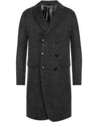 Giorgio Armani - Coat With Peak Lapels - Lyst