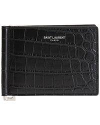Saint Laurent - Bi-fold Wallet With Logo - Lyst