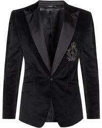Dolce & Gabbana - Branded Blazer - Lyst