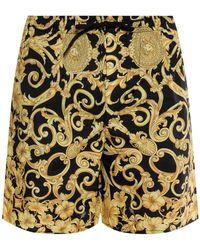 Versace - Baroque Pattern Swim Shorts - Lyst