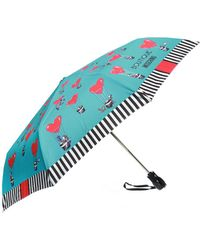 Moschino - Patterned Umbrella With Logo - Lyst
