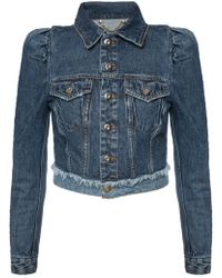 DIESEL - Cropped Denim Jacket - Lyst