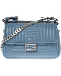 Fendi - 'double Baguette' Quilted Shoulder Bag - Lyst