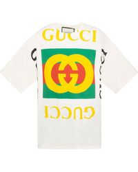 bd48ba92d Gucci Washed T-shirt With Monkeys Print for Men - Lyst