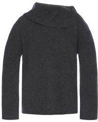 AllSaints - 'sura' Tie Neck Sweater - Lyst