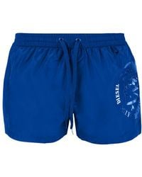 DIESEL - Printed Logo Swimming Shorts - Lyst