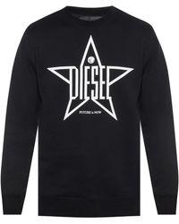 DIESEL - Printed Sweatshirt - Lyst