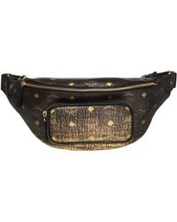 MCM - 'fursten' Belt Bag With Logo - Lyst