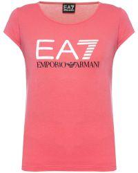 EA7 - Printed T-shirt - Lyst