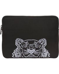 KENZO - Embroidered Tiger Head Tablet Case - Lyst