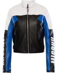 MISBHV - Band Collar Leather Jacket - Lyst