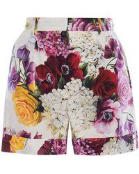 Dolce & Gabbana - Floral Shorts - Lyst