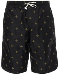 Gucci - Bee Motif Swimming Shorts - Lyst