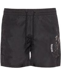 DIESEL - Logo-printed Swim Shorts - Lyst