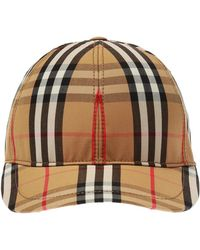 6324891e990 Lyst - Burberry House-checked Cotton Cap in Natural for Men