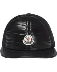 782adf202aa Lyst - Moncler Small Logo Baseball Cap in Black for Men