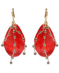 Marni long pendant earrings - Red By17cfUZx