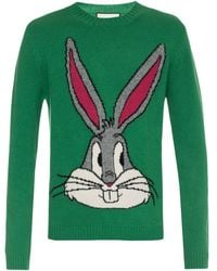 6aa3e9b22a9 Lyst - Gucci Bugs Bunny Sweater in Yellow for Men