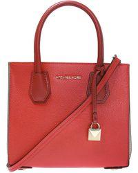MICHAEL Michael Kors Mercer Leather Handbag - Red