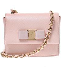 Ferragamo - 'ginny' Leather Shoulder Bag - Lyst