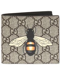 Gucci - Wallet With Bee Motif - Lyst