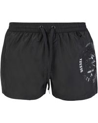 DIESEL - Logo Swim Shorts - Lyst