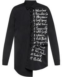 DSquared² - List Print Asymmetric Shirt - Lyst