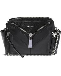 DIESEL - Leather Shoulder Bag - Lyst